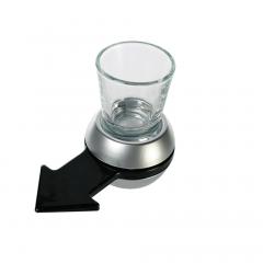 Joc de baut Spin-the-Arrow cu pahar pentru shot, 10.5 cm & 50 ml, Radar 93/2047