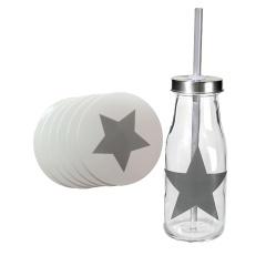 Set suport pahare + sticla cu stelute, Radar SETDECO, 7 piese