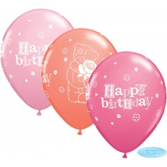 Baloane latex 11''/28cm Me to You - Happy Birthday, Qualatex 12554, Set 25 buc