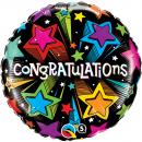 Balon Folie 45 cm Congratulations, Qualatex 41427