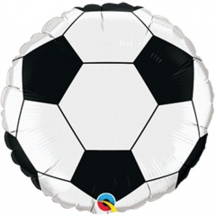 Balon mini folie 23 cm minge fotbal + bat si rozeta, Qualatex 98439