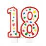 Lumanare aniversara de tort rosie cu cifra 1 pentru fetite, Amscan 179601, 1 buc