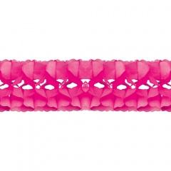 Ghirlanda decorativa hartie roz - 5 m x 18 cm, Radar 54133