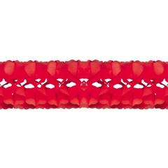 Ghirlanda decorativa hartie rosie - 5 m x 18 cm, Radar 54151