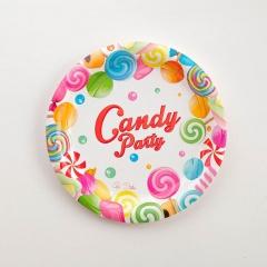 Farfurii bomboane  18 cm pentru candy bar, Radar 63759, Set 8 buc