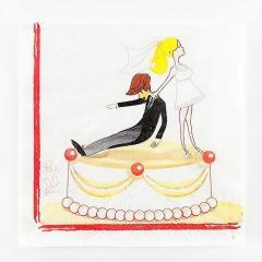Servetele de masa pentru nunta - 33 x 33 cm, Radar 63407, Set 20 buc