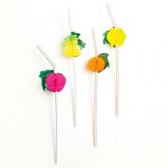 Paie flexibile pentru petrecere cu decor fructe, Radar 12820, Set 144 buc