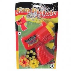 Pistol cu confeti fotbal, 6 trageri +3 cartuse, Radar 34621