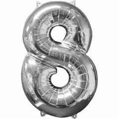 Balon Folie Cifra 0 Argintiu - 66cm, Anagram 31954