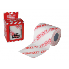 Hartie igienica imprimata cu Emergency, OT33/0022, 1 rola