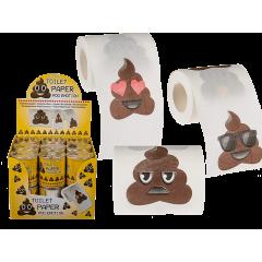 Hartie igienica imprimata cu Poo Emotions, OT33/0027, 1 rola