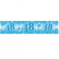 Banner decorativ albastru pentru majorat - 2.6 m, Qualatex 45567