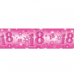 Balon Folie 45 cm Cifra 4 Roz cu Printese, Qualatex 26306