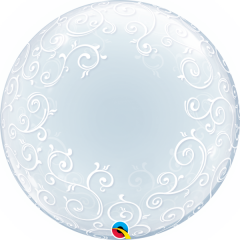 Balon Deco Bubble 24''/61cm Qualatex, 13693