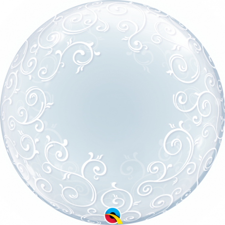 "Balon Bubble 22""/56cm Qualatex, Birthday! Celebration, 68651"