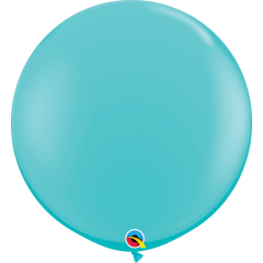 Baloane latex Jumbo 3 ft Caribbean Blue, Qualatex 18615, 1 buc