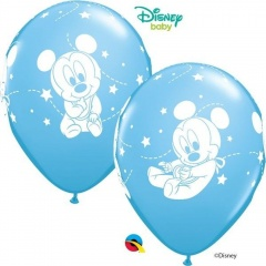 Baloane latex 12''- Mickey Mouse Baby, Qualatex , Set 6 buc