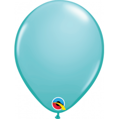 Caribbean Blue Latex Balloon, 5 inch (13 cm), Qualatex 50319, Pack of 100 pieces