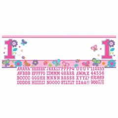Banner decorativ pentru petrecere 1.65 m, personalizat, It's a boy, Amscan 129458, 1 buc