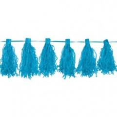 Ghirlanda pampoane albastre 30 cm x 3 m, Amscan 220074.54, 1 buc
