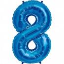 Balon Folie Figurina Cifra 8 Baloane 66x86cm, Amscan 13717, 1 buc