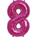Balon folie mare cifra 8 rosu - 86cm, Northstar Balloons 00122