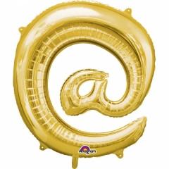 Balon Folie Simbol @ Auriu - 41 cm, Amscan 33065