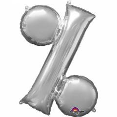 Balon Folie Simbol % Argintiu - 41 cm, Amscan 33070
