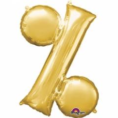 Balon Folie Simbol % Auriu - 41 cm, Amscan 33071