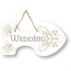 Indicator directie pentru nunta - 19 x 10 cm, Amscan 997319, set 6 bucati