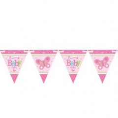 Banner fanioane Welcome Little One Girl, Amscan 121457
