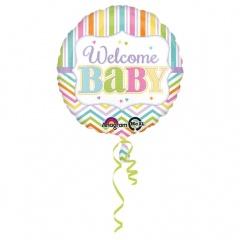 Balon Folie 45 cm Welcome Baby, Amscan 30915