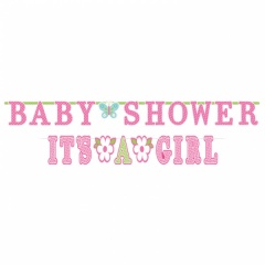 2 Bannere decorative pentru petrecere Baby Shower- 3.20 m/ 1.83 m, Amscan 121459