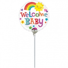 Balon mini folie welcome baby - 23 cm, Amscan 33719