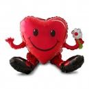 Balon Folie Inima Smiley Face - 50 x 33 cm, Amscan 31863