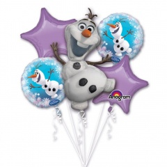 Buchet Baloane Olaf Frozen, Amscan 31269, set 5 bucati