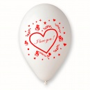 "Baloane latex 10""/26cm inscriptionate ""Love"", Radar GI.LOVE"