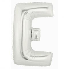 Balon Folie Figurina Litera E Argintiu - 53 X 81 cm, Amscan 32954