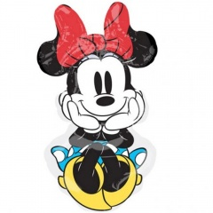 Balon Folie Minifigurina Minnie Rock The Dots, Amscan 33124