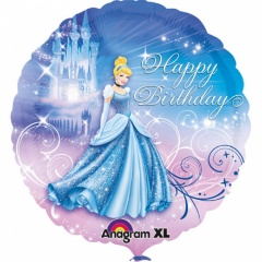 "Cinderella Happy Birthday Foil Balloon - 18""/45cm, Amscan 2481501"