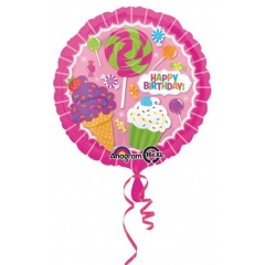 Balon Folie 45 cm Sweet Shop Birthday, Amscan 31615