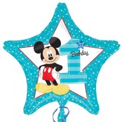 Mickey 1st Birthday Shape Foil Balloons, 45 cm, 34335