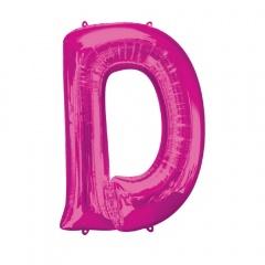 Balon Folie Mare Litera D Roz - 86 cm, Amscan 35408