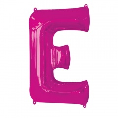Balon Folie Mare Litera E Roz - 81 cm, Amscan 35410
