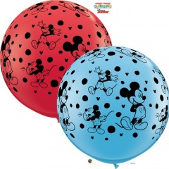 Balon Latex Jumbo 3 ft Mickey Disney, Qualatex 49576