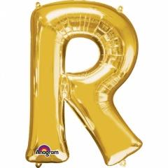 Balon Folie Litera R Auriu - 41 cm, Amscan 33047