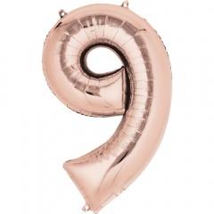 Balon Folie Mare Cifra Rose Gold - 86 cm, Amscan 36220