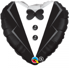 Balon Folie 45 cm Wedding Tuxedo, Qualatex 15784