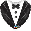 Balon Folie 45 cm Wedding Tuxedo, Qualatex 15784