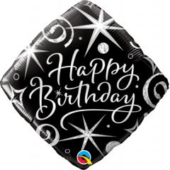 Balon Folie 45 cm Happy Birthday, Qualatex 29988